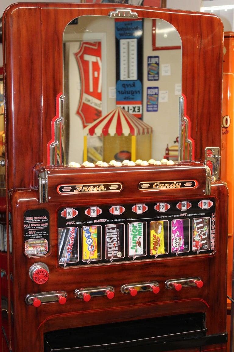 1950s Stoner Univendor Theater Candy Eight Pull Dispenser Vending Machine For Sale 1