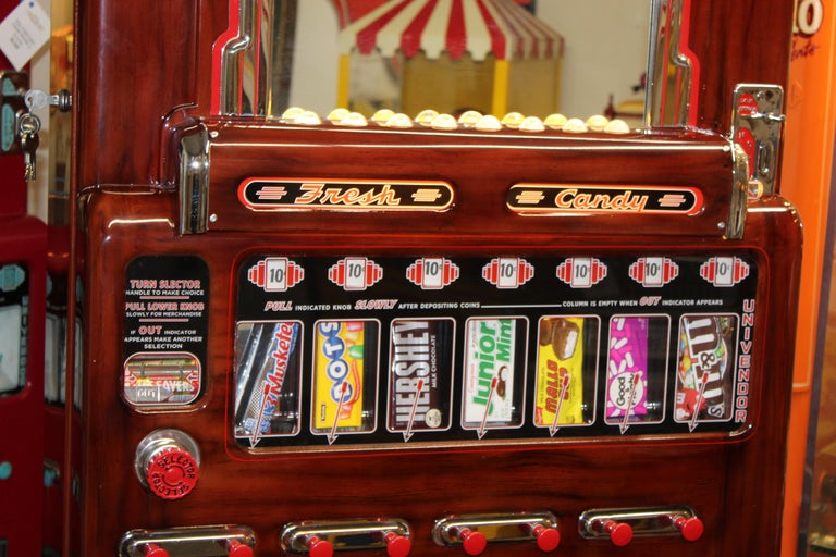 1950s Stoner Univendor Theater Candy Eight Pull Dispenser Vending Machine For Sale 2