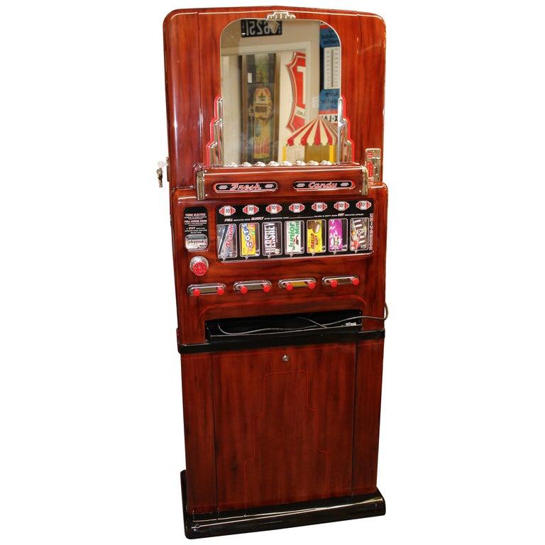 1950s Stoner Univendor Theater Candy Eight Pull Dispenser Vending Machine For Sale