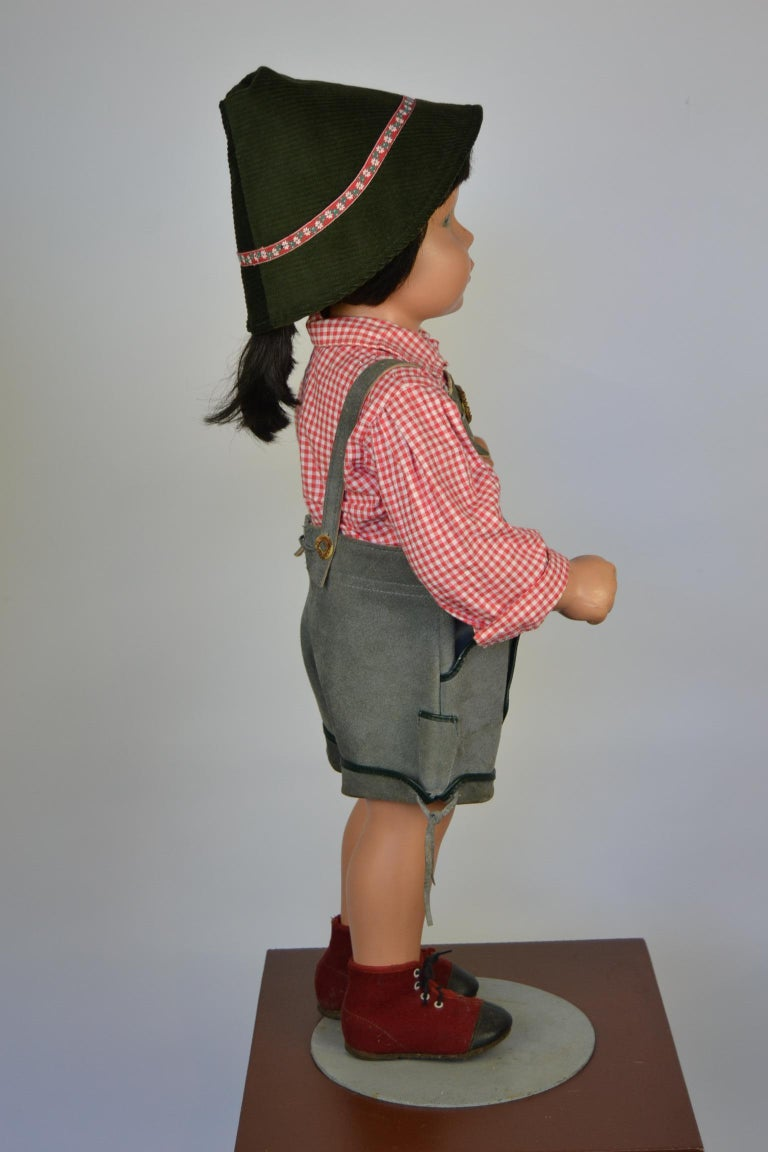 1950s Store Display Mannequin Child, Tyrol Clothing, Kathe Kruse Style For Sale 3