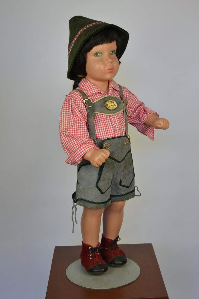 1950s Store Display Mannequin Child, Tyrol Clothing, Kathe Kruse Style For Sale 4