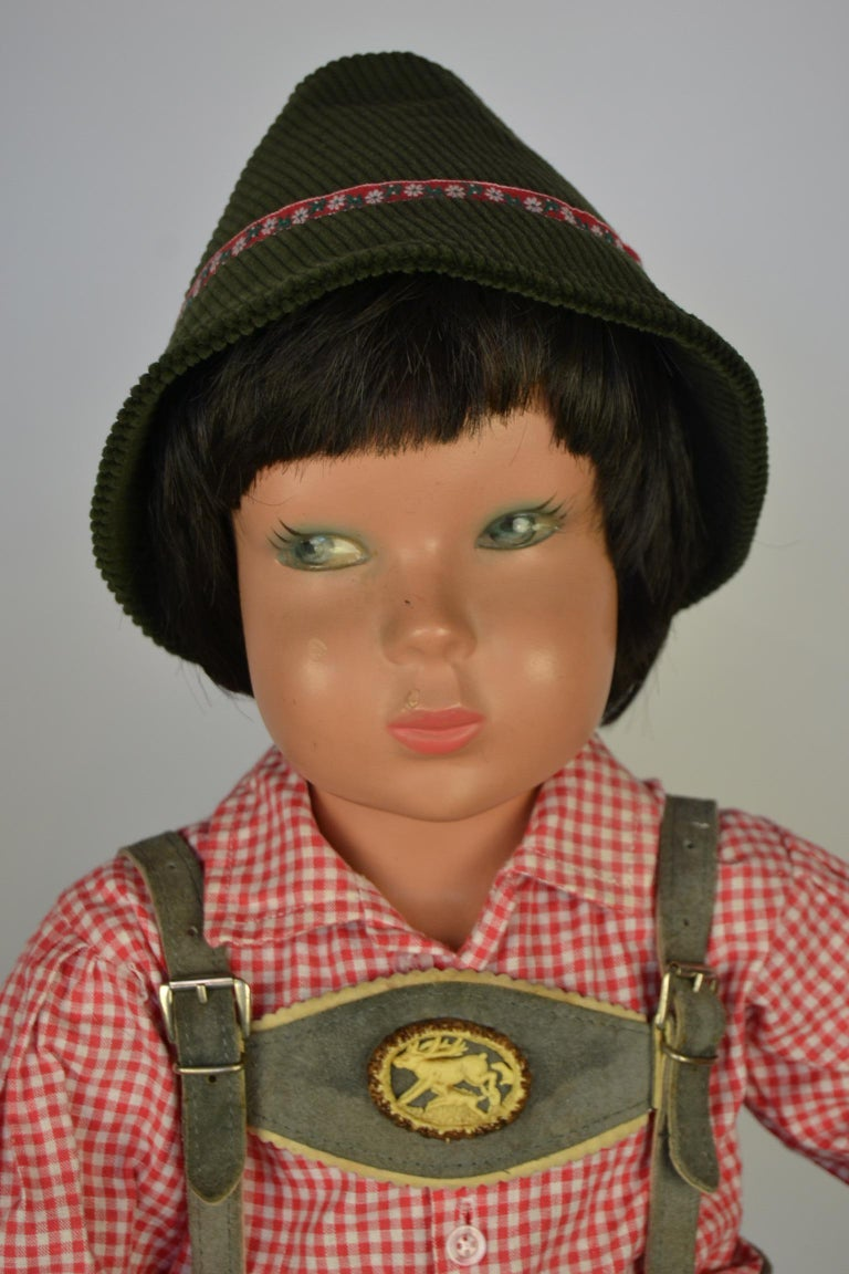 1950s Store Display Mannequin Child, Tyrol Clothing, Kathe Kruse Style For Sale 5