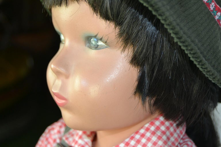 1950s Store Display Mannequin Child, Tyrol Clothing, Kathe Kruse Style For Sale 13