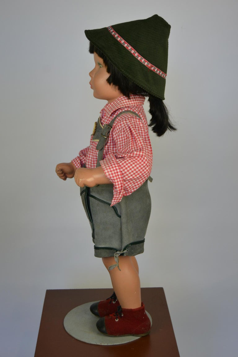 Acrylic 1950s Store Display Mannequin Child, Tyrol Clothing, Kathe Kruse Style For Sale