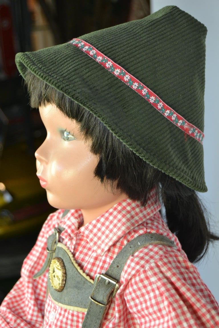 1950s Store Display Mannequin Child, Tyrol Clothing, Kathe Kruse Style For Sale 1