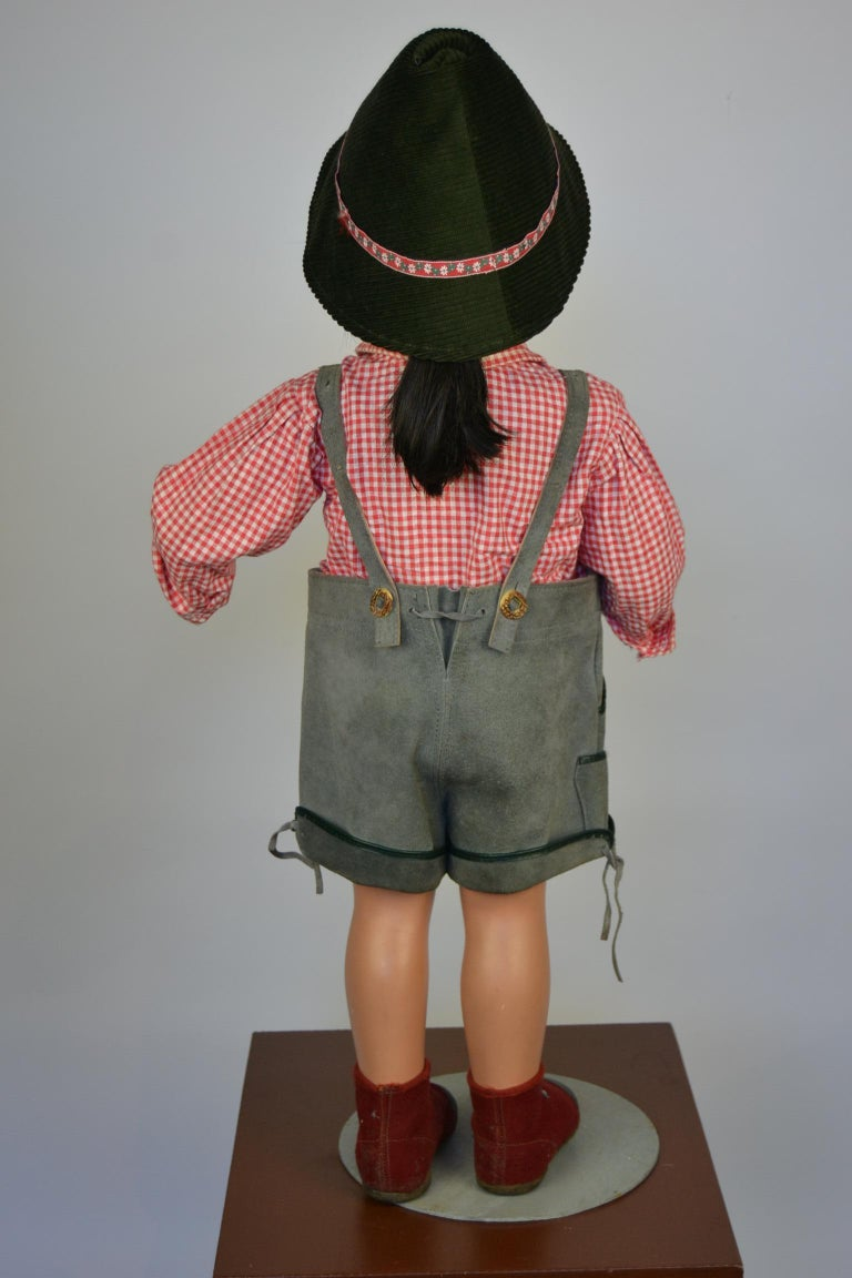 1950s Store Display Mannequin Child, Tyrol Clothing, Kathe Kruse Style For Sale 2