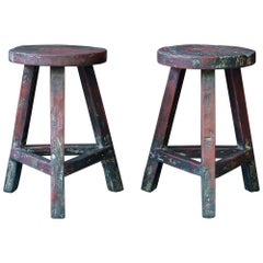 1950s Studio Craft Wooden Plant Stand Stacking Stool