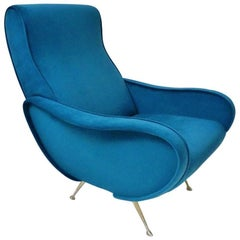 1950s Style Armchair Newly Made to Order in a Choice of 25 Colors, Italian