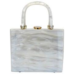 1950s Stylecraft Miami Lucite Top Handle Box Bag