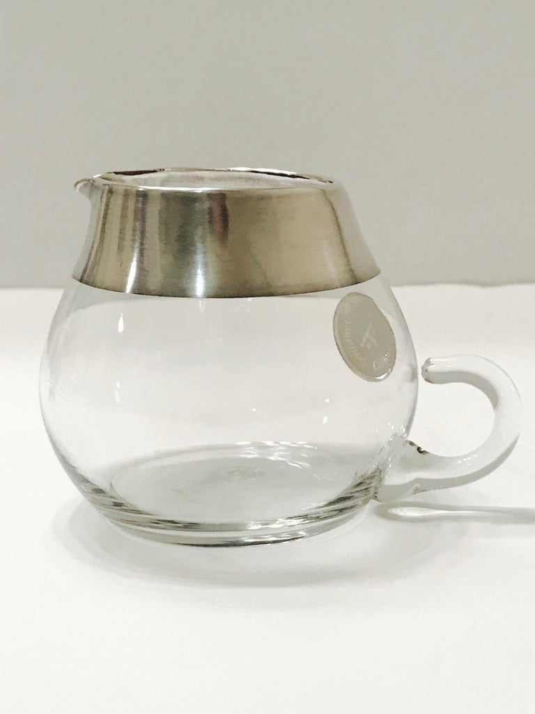 1950s Sugar and Creamer Set with Sterling Silver Overlay by Dorothy Thorpe  For Sale 2