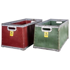 1950s Suroy Storage Boxes, Stackable Pair