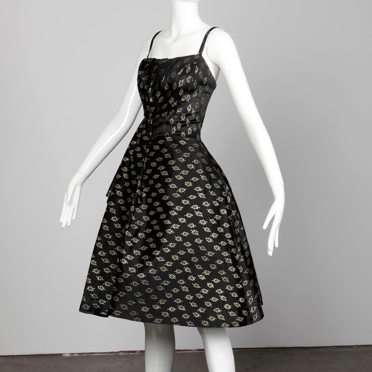 Black 1950s Suzy Perette Vintage Dress For Sale
