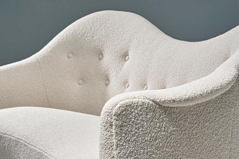 Mid-20th Century 1950s Swedish Boucle Samspel Sofa by Carl Malmsten For Sale