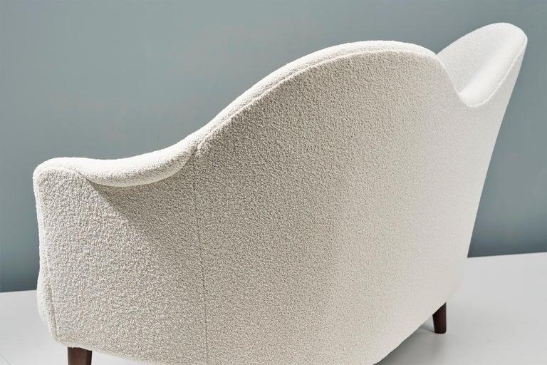 1950s Swedish Boucle Samspel Sofa by Carl Malmsten For Sale 1