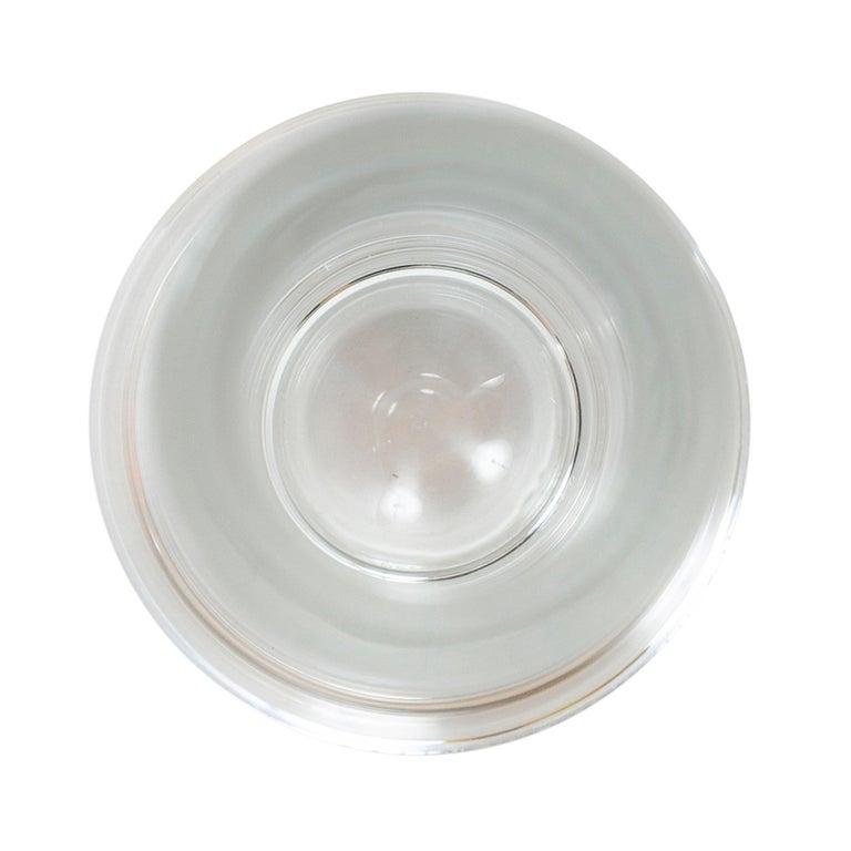 Scandinavian Modern 1950s Swedish Clear Crystal Bud Vase by Orrefors For Sale
