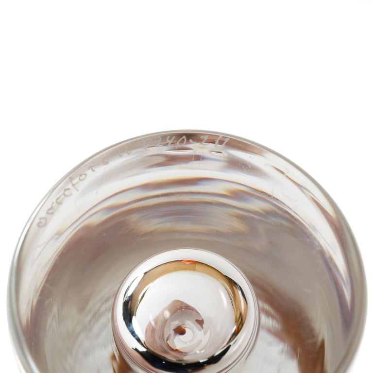 1950s Swedish Clear Crystal Bud Vase by Orrefors In Good Condition For Sale In Sagaponack, NY