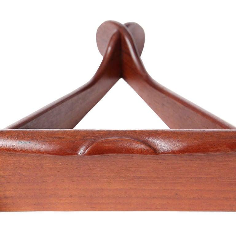 Walnut 1950s Swedish Triangular Three-Tiered Shelf For Sale