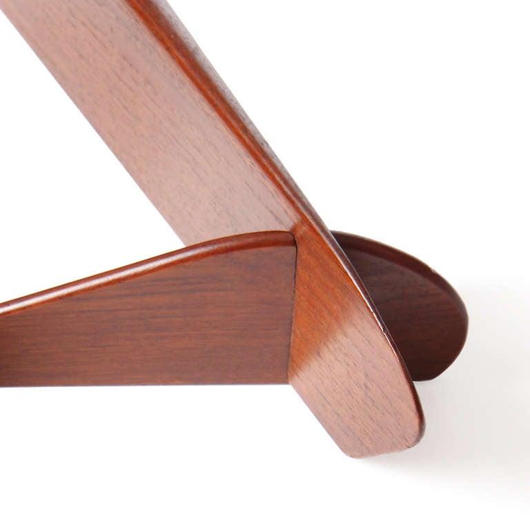 1950s Swedish Triangular Three-Tiered Shelf For Sale 2
