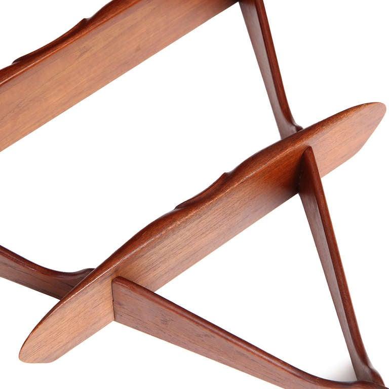 1950s Swedish Triangular Three-Tiered Shelf For Sale 3