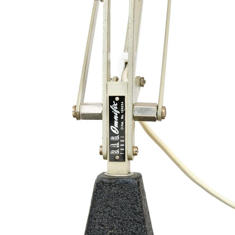 Metal 1950s Swiss Articulating Desk Lamp by BAG Turgi For Sale