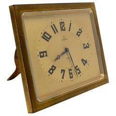 1950s Swiss Omega Square Table Clock