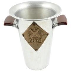 1950s Tall Modernist Aluminum Ice Bucket Wine Cooler