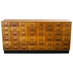 1950s Tall Multi Drawer Chest of Drawers, Storage Cabinet, Forty Eight Drawer