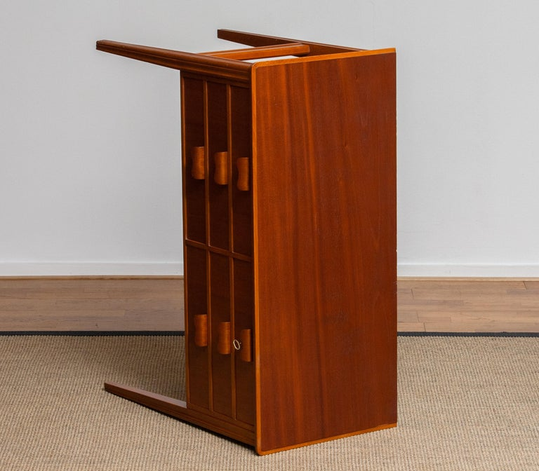 1950s, Teak and Beech Chest of Drawers by Ferdinand Lundquist For Sale 3