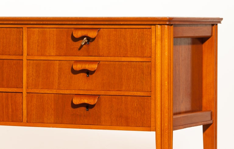 1950s, Teak And Beech Chest Of Drawers By Ferdinand