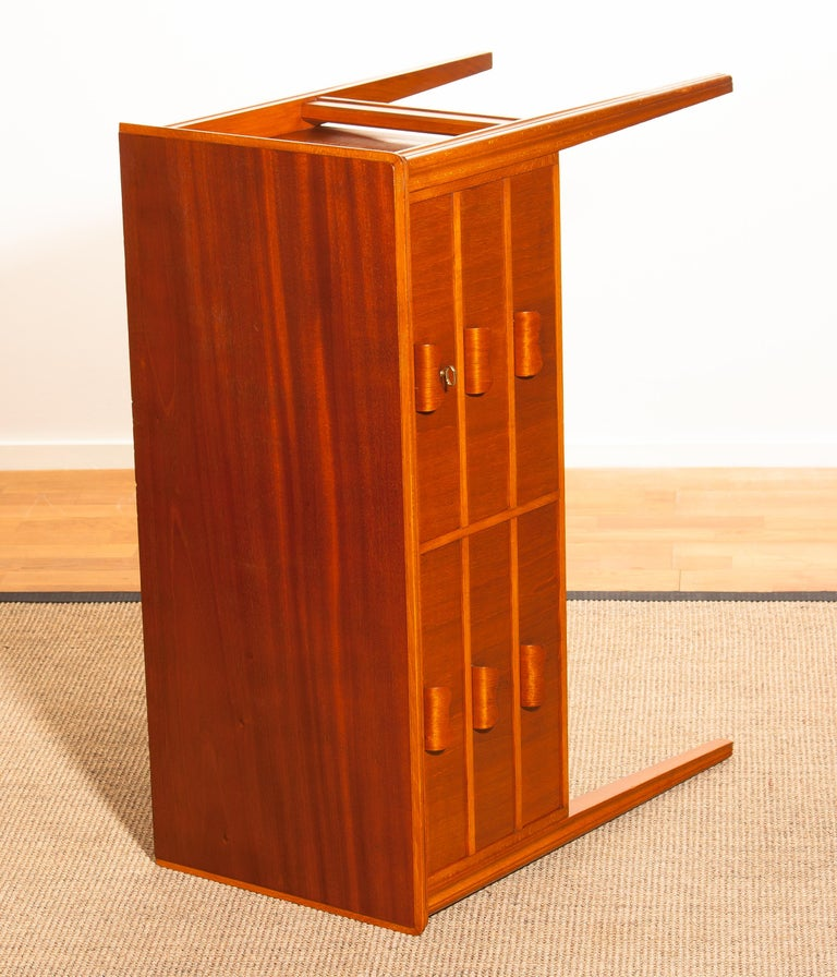 1950s, Teak and Beech Chest of Drawers by Ferdinand Lundquist For Sale 2