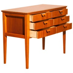 1950s, Teak and Beech Chest of Drawers by Ferdinand Lundquist