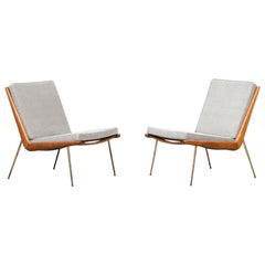1950s Teak and Brass Lounge Chairs by Peter Hvidt 'd'