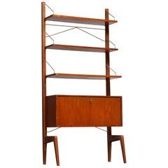 1950s, Teak Bookcase / Shelf by Poul Cadovius for Gustav Bahus, Freestanding