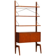 1950s, Teak Bookcase / Shelf by Poul Cadovius for Gustav Bahus, Freestanding