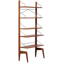 1950s Teak Bookcase Shelf System by Poul Cadovius for Gustav Bahus Free Standing