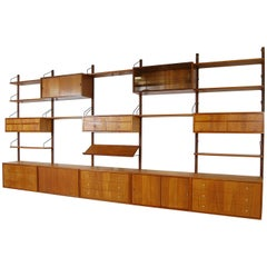 1950s Teak Danish Royal Modular Shelving System Wall Unit by Poul Cadovius
