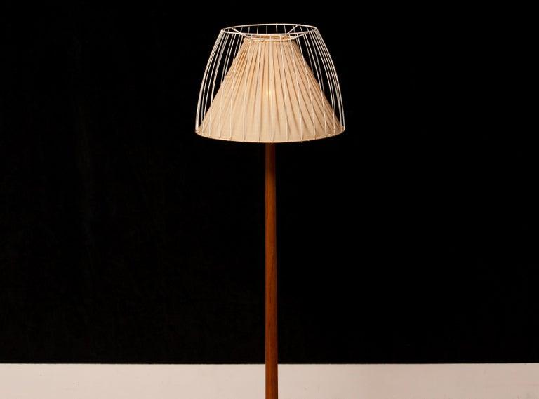 1950s, Teak Floor Lamp by Stilarmatur, Sweden In Good Condition In Silvolde, Gelderland