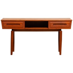 1950's Teak Hall Cabinet / Dressing Table / Vanity by Johannes Andersen, Sweden