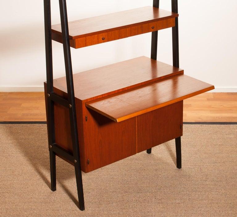 1950s, Teak Room Divider or Bookshelves, Sweden 7