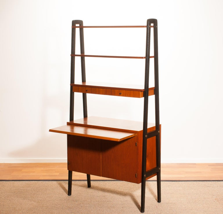 Mid-20th Century 1950s, Teak Room Divider or Bookshelves, Sweden