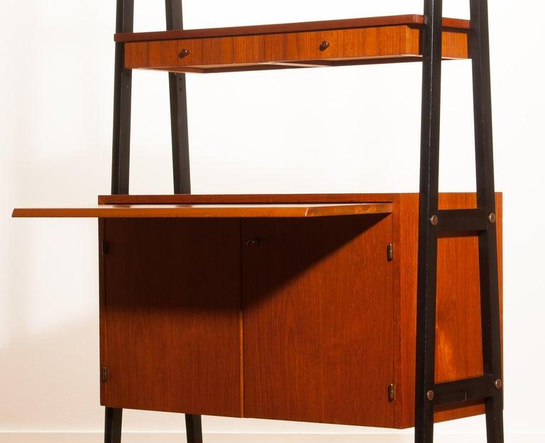 1950s, Teak Room Divider or Bookshelves, Sweden 1