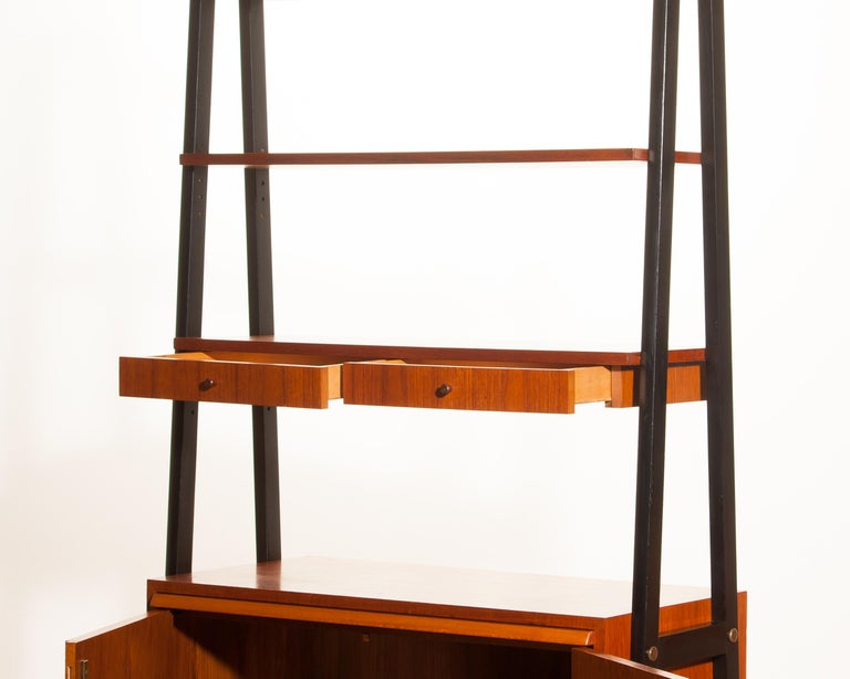 1950s, Teak Room Divider or Bookshelves, Sweden 3
