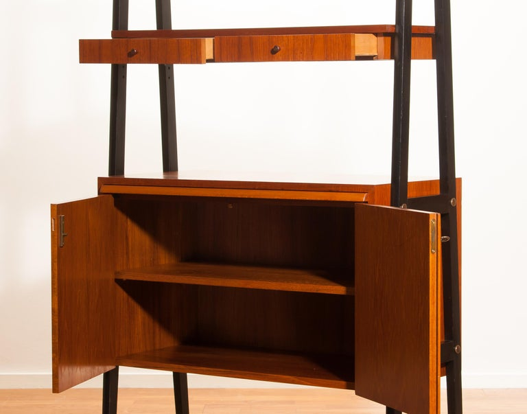 1950s, Teak Room Divider or Bookshelves, Sweden 4