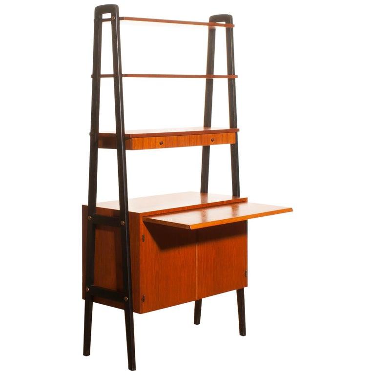 1950s, Teak Room Divider or Bookshelves, Sweden