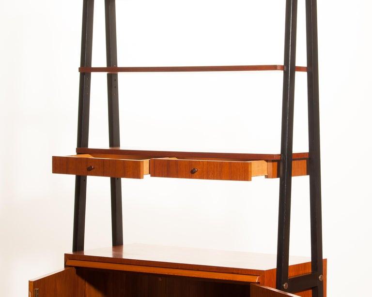 1950s, Teak Room Divider or Cabinet, Sweden In Excellent Condition In Silvolde, Gelderland