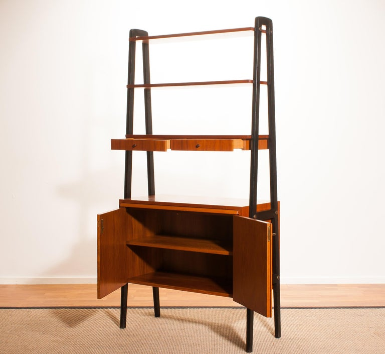 Mid-20th Century 1950s, Teak Room Divider or Cabinet, Sweden