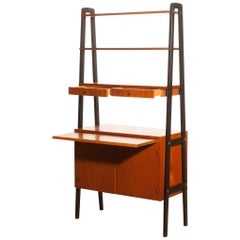 1950s, Teak Secretaire / Bookshelves By Gyllenvaans Sweden