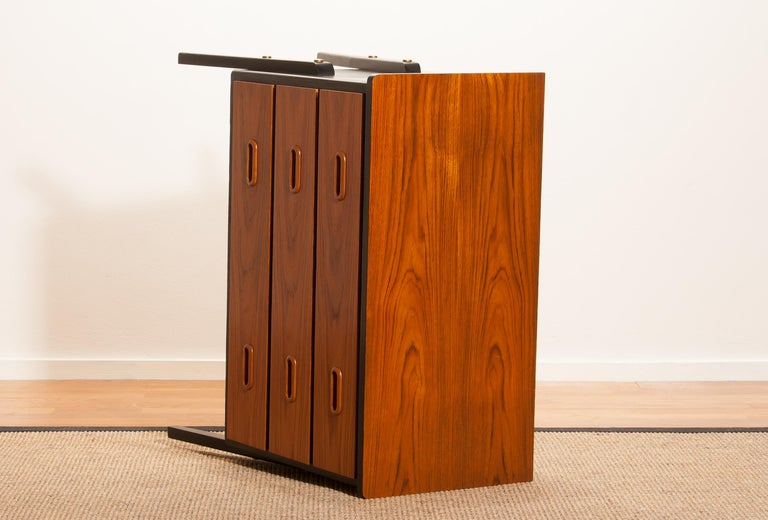 Mid-20th Century 1950s, Teak Small Chest of Drawers by Gyllenvaans Möbler, Sweden For Sale