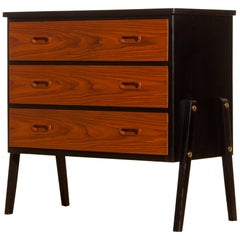 1950s, Teak Small Chest of Drawers by Gyllenvaans Möbler, Sweden