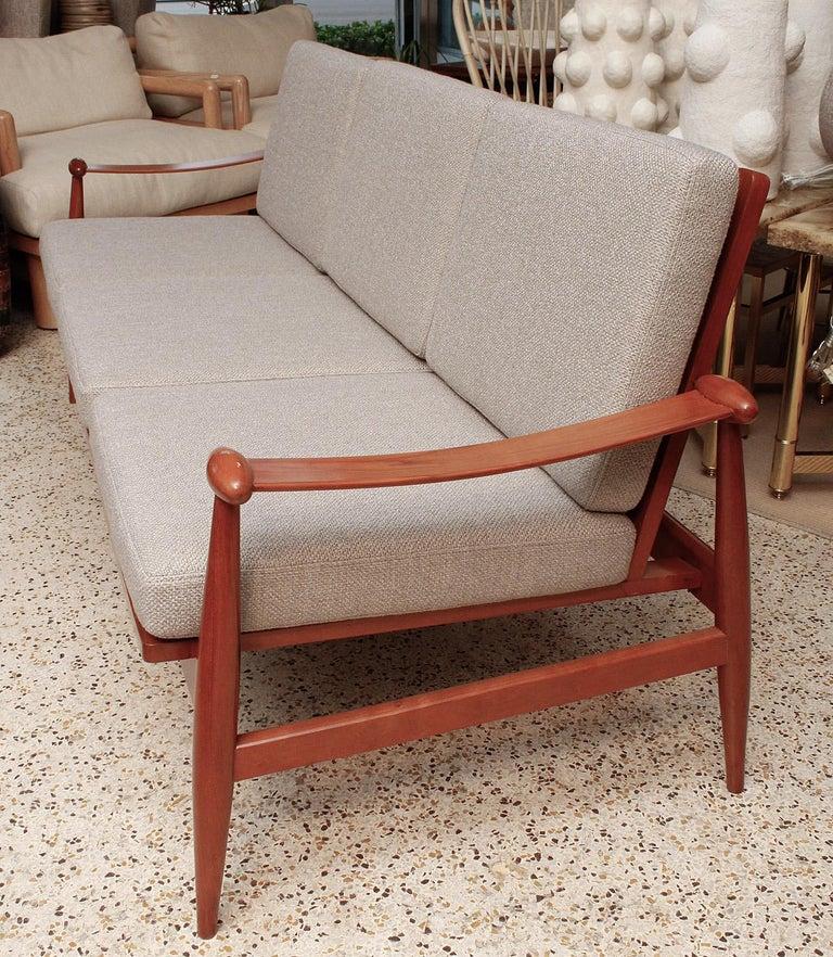 Newly upholstered teak